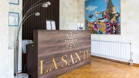 recepcija privatne ordinacije La Sante zdravstvenog centra u Beogradu